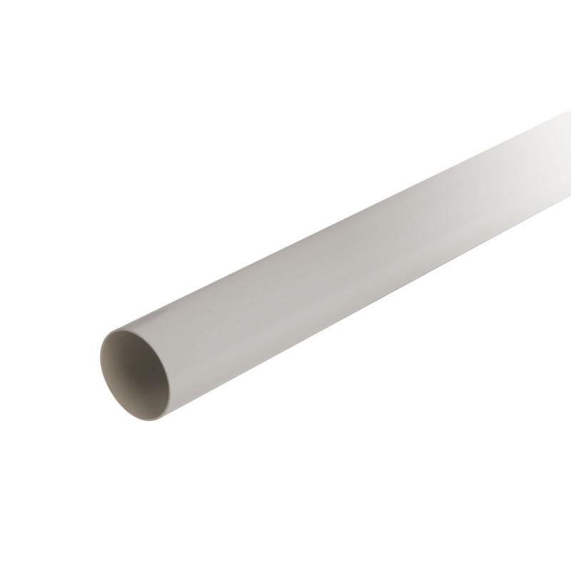 Σωλήνα Καθόδου Υδρορροής Λευκή Φ80 4m (στην φωτογραφία είναι γκρί απόχρωση)
