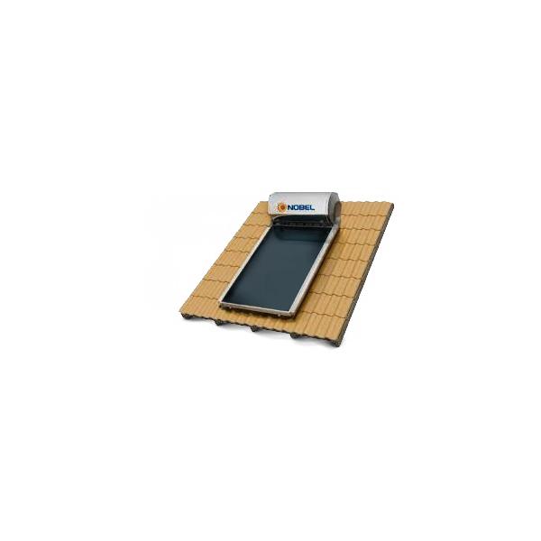 Ηλιακός Θερμοσίφωνας Κεραμοσκεπής Classic Nobel160 lt/2,6m2(1x2,6m) Τριπλής Ενέργειας με Δοχείο Glass