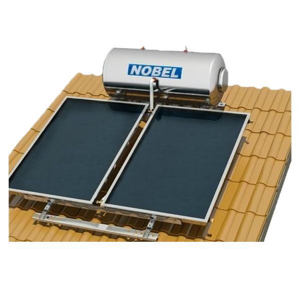 Ηλιακός Θερμοσίφωνας Κεραμοσκεπής Classic Nobel  160 lt/3m2(2x1,5m) Τριπλής Ενέργειας με Δοχείο Glass