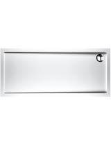 Ντουζιέρα Ορθογώνια Ακρυλική 170x80x5,5 cm Sirene Extra Flat Λευκή Ευρώπης
