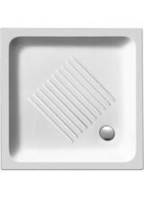 Ντουζιέρα Τετράγωνη Πορσελάνης 80x80x10cm Gsi Basic λευκή Ιταλίας