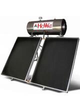 Ηλιακός Θερμοσίφωνας Howat  Inox 200lt/4m2 Διπλής Ενέργειας με Επιλεκτικούς  Συλλέκτες