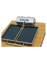 Ηλιακός Θερμοσίφωνας Κεραμοσκεπής Nobel 160 lt/3m2(2x1.5m) Τριπλής Ενέργειας με Δοχείο Inox