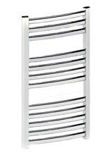 Θερμαντικά Σώματα Μπάνιου - Πετσετοκρεμάστρα Εκάτη Λευκό k-energy 450x1490 mm (640 kcal) Καμπυλόγραμμη