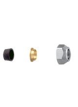 Σύνδεσμος σωλήνας χαλκού Φ16 (λάστιχο και δαχτυλίδι) Brass Form 06 - 07 - 08