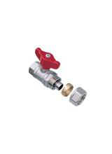 Σφαιρική Βάνα Ύδρευσης για σύνδεση πλαστικής σωλήνας Φ22 Brass Form 116