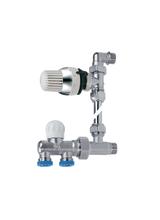 Διακόπτης Brass Form μονοσωληνίου εξωτερικού βρόγχου σπαστός Smart Form 1670 θερμοστατικός