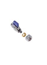 Διακόπτης ''Μίνι'' με ρακόρ (ενσ/μένο) Brass Form 441 για σύνδεση πολυστρωματικής σωλήνας (Al Pex) 16x2