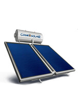Ηλιακός Θερμοσίφωνας Cosmosolar CS-250 VS 4m2 Διπλής Ενέργειας με δοχείο Glass και με Επιλεκτικό Συλλέκτη Επίστρωσης Τιτανίου